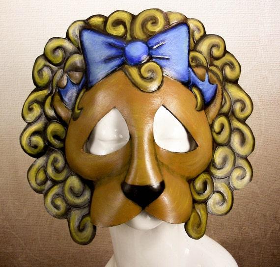Cowardly Lion Leather Mask