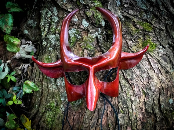 Russian Flu  - Red Devil Victorian Leather Mask