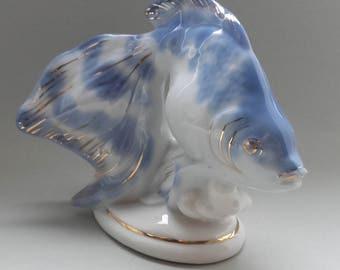 Porcelain Russia Figurine Fish Magic Vintage Fabulous USSR RFF Riga 70'S
