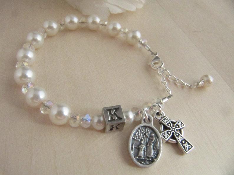 Catholic Irish Baby Baptism Godparent Rosary Gift Set | Etsy