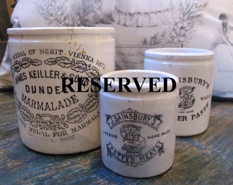 Reserved for VintageinspiredVt Potty About Potted Meats Pot