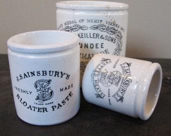 Delectable English Antique Bloater Paste Pot