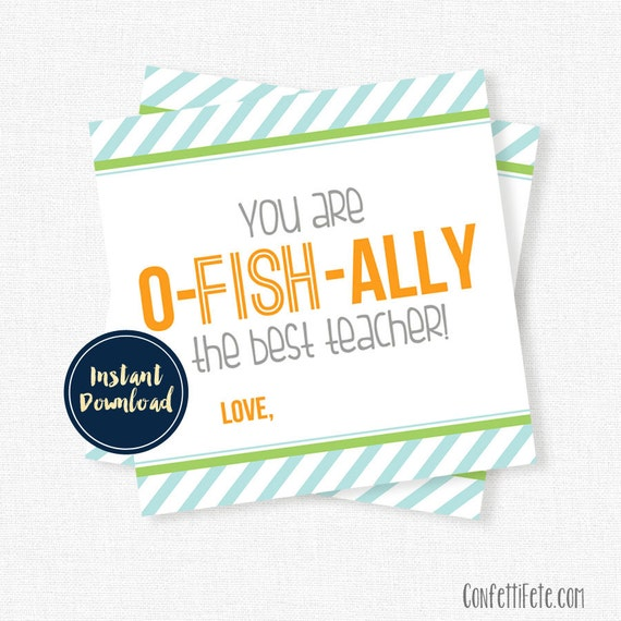 photo about O Fish Ally Printable identify Yourself Are O-Fish-Ally The Perfect Instructor Tag, Instructor Reward Tags