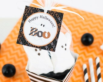 Ghost Halloween Tags, Halloween Favor Tags, BOO Tag, Trick or Treat Tag, Halloween Printables INSTANT DOWNLOAD