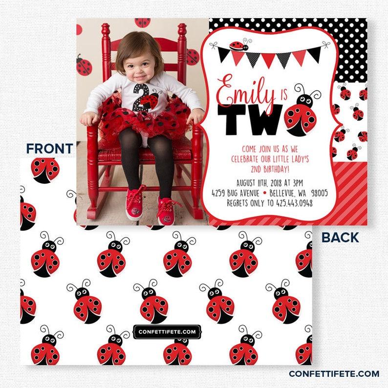 Ladybug Birthday Invitation Party Invitations