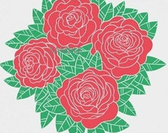 Roses Bouquet Cross Stitch Chart