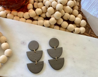 Polymer Clay Statement Earrings