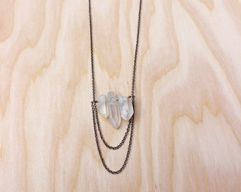 Scarlett Necklace with Quartz Crystals