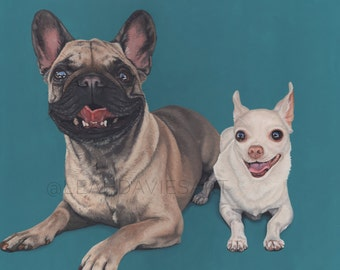 Custom Pet Portrait - Multiple Subjects, 16x20