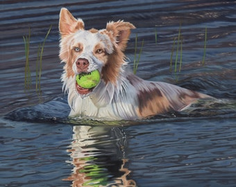 Custom Pet Portrait + Complex Background 12x12
