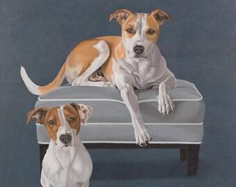 Custom Pet Portrait - Multiple Subjects, 30x30