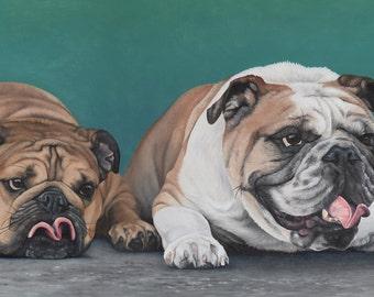 Custom Pet Portrait - Multiple Subjects, 12x24