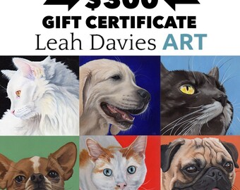300 dollar Gift Certificate - commission portrait