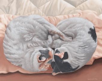 Custom Pet Portrait - Multiple Subjects, 11x14