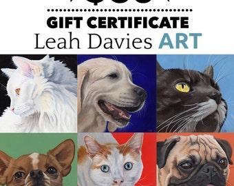 50 dollar Gift Certificate - commission portrait