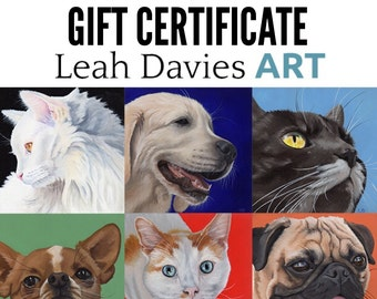 100 dollar Gift Certificate  - commission portrait