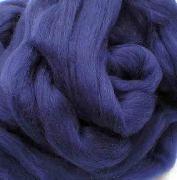 Ashland Bay Solid Colored Merino for Spinning or Felting Aqua  4 oz.