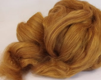 Alpaca and Red Eri Silk Blend 75/25 for Spinning or Felting 4 oz.