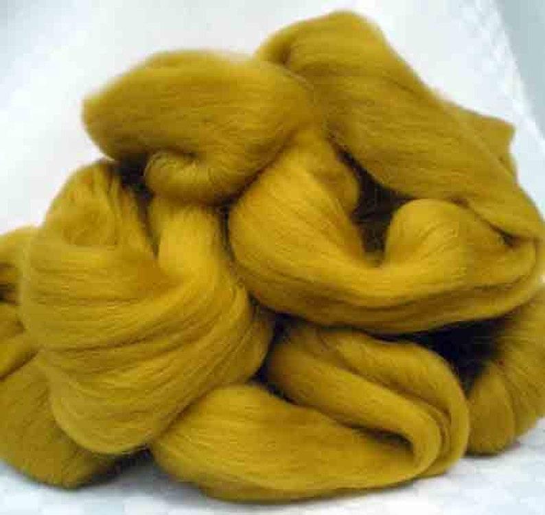 Ashland Bay Solid Colored Merino for Spinning or Felting Dijon  4 oz.