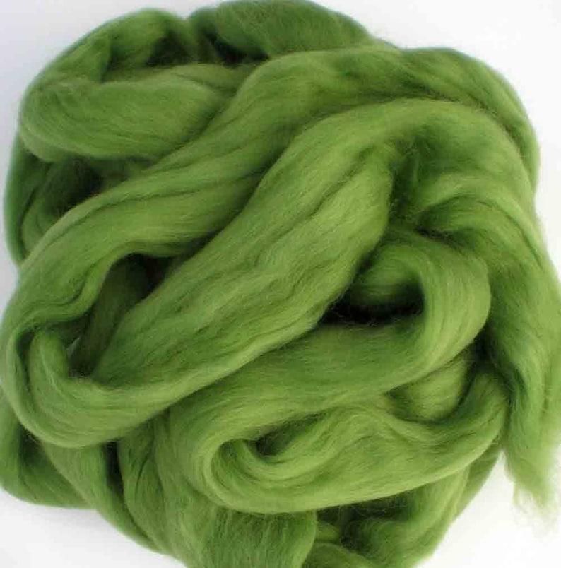 Ashland Bay Solid Colored Merino for Spinning or Felting Kiwi  4 oz.