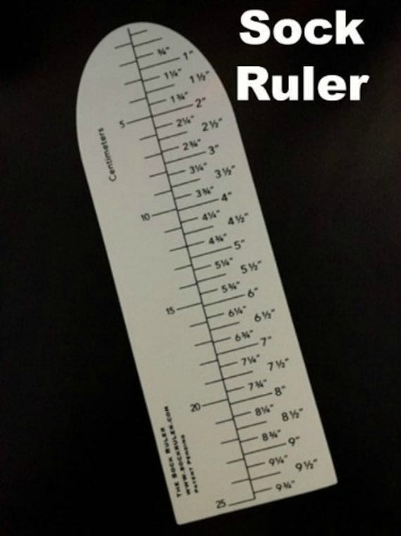 AN EASY INNOVATIVE WAY TO MEASURE SOCKS!!! THE SOCK RULER by THE SOCK RULER!