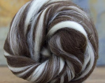 Natural Colored Corriedale Humbug Combed Top 4 Oz.