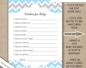 Prayers For Baby Instant Download Wishes For Baby Printable Etsy