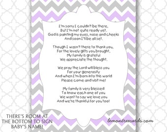 Sports Baby Shower Thank You Notes With Poem Instant Etsy