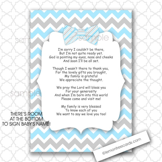 Baby Shower Thank You Poems From Baby Boy Baby Shower Ideas