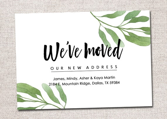 we have moved card new address card new home house warming etsy