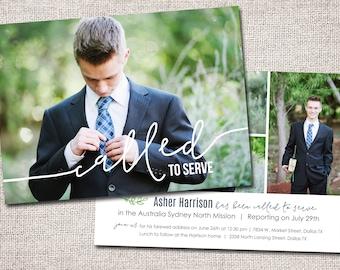 LDS Missionary, Missionary farewell invitation, Elder, Printable (Called to Serve Missionary farewell invitation 2 sided)