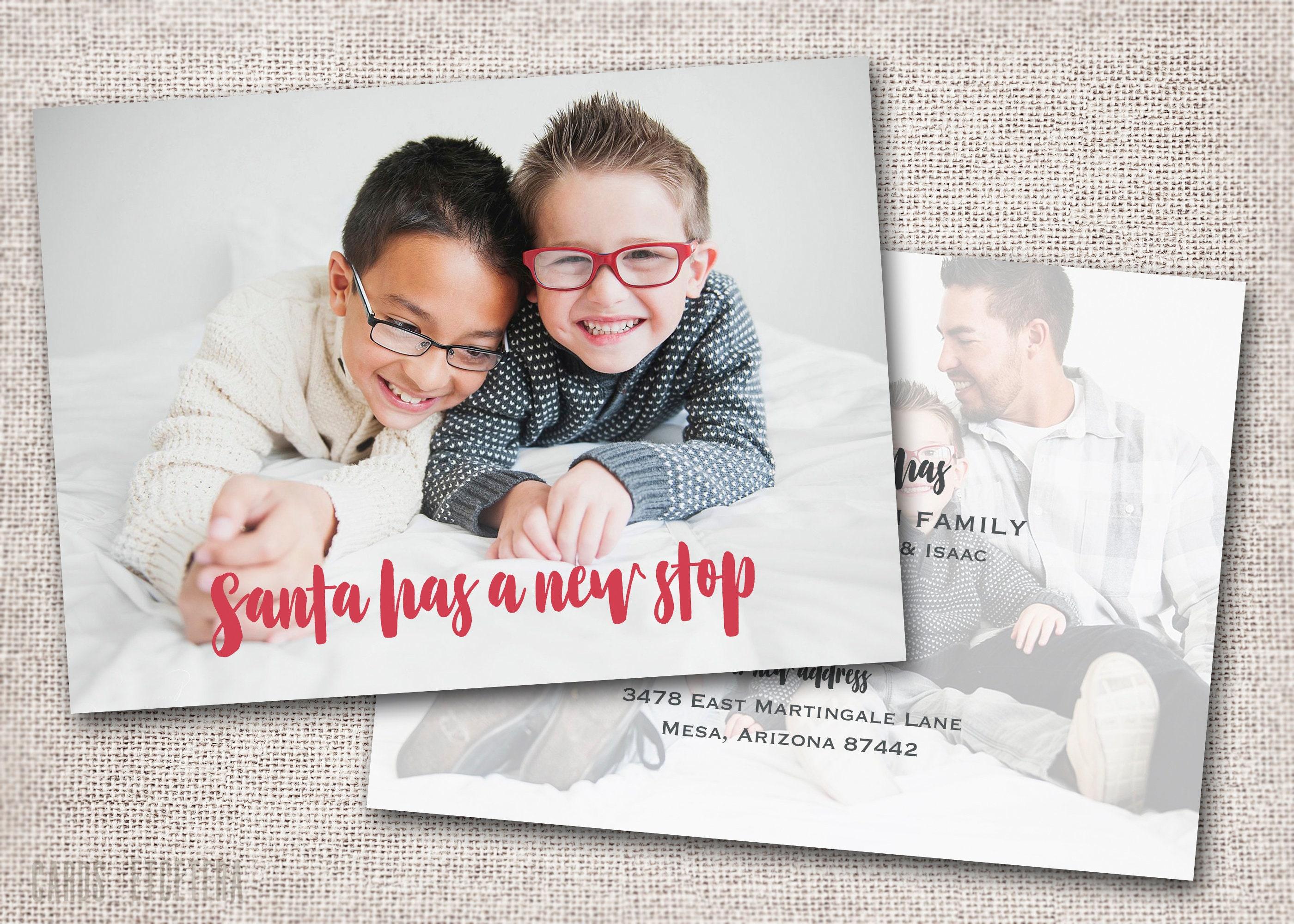 Photo Christmas Card New Address Card Holiday Card New | Etsy