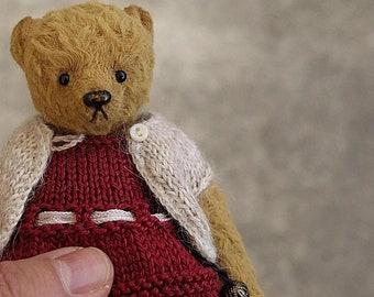"Ophelia, Miniature 5 1/4"" Viscose Artist Teddy Bear from Aerlinn Bears"