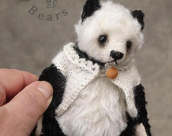 From Tassie With Love, Mohair Panda Artist Teddy Bear from Aerlinn Bears