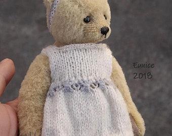 Eunice, Miniature Alpaca Artist Teddy Bear from Aerlinn Bears