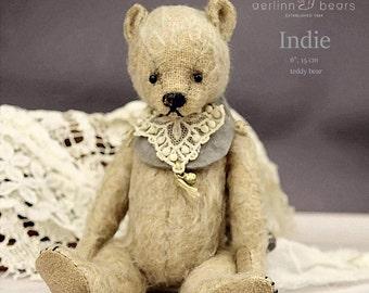 "Indie, 6"" PDF Artist Teddy Bear Pattern by Aerlinn Bears"