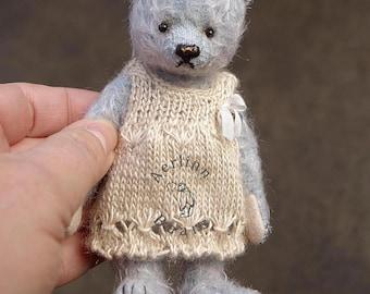 "Cuddles, OOAK 5"" Mohair Artist Teddy Bear  from Aerlinn Bears"