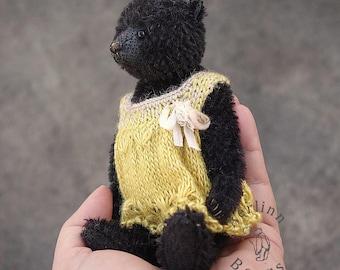 Dottie Black, Miniature Mohair Artist Teddy Bear from Aerlinn Bears