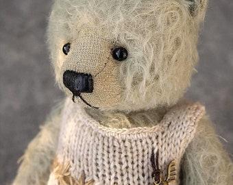 Marta, Green Mohair Artist Teddy Bear from Aerlinn Bears