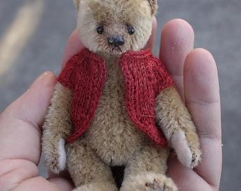 """Sprout , Miniature 4""""  Mohair Artist Bear from Aerlinn Bears"""
