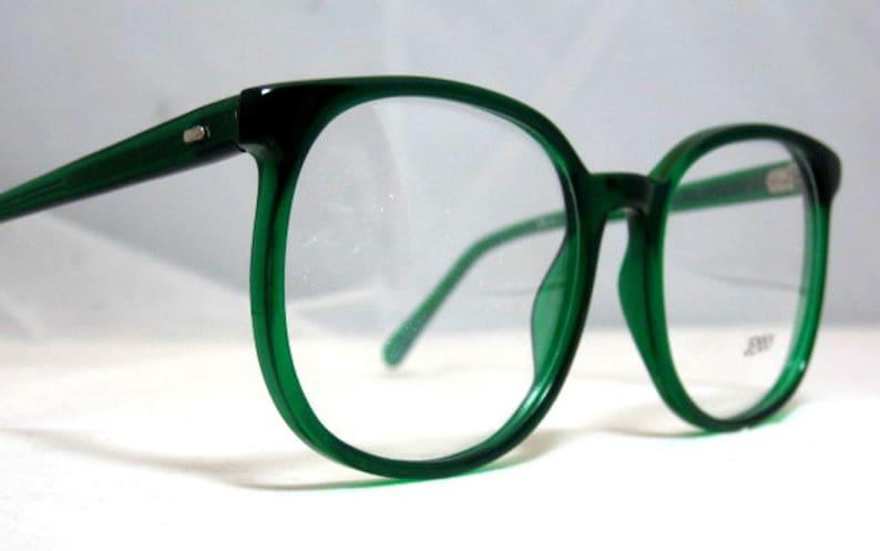 bf00a10ace Vintage 80s Large Square Horn Rim Eyeglass Frames. Bright