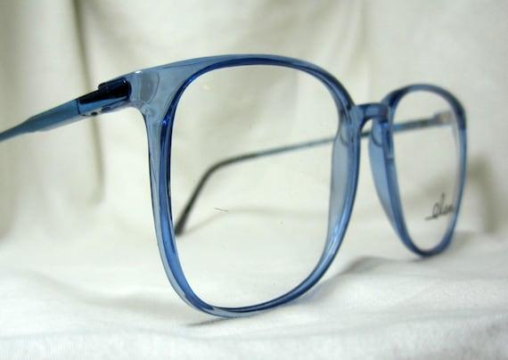 Vintage 80s Oversized Eyeglass Frames. Large Blue Glasses | Etsy