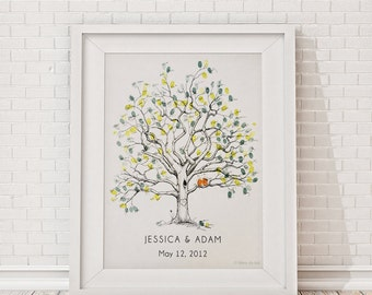 Fingerprint Tree, Wedding Guest Book Alternative, Twisted Oak for 150-200 guests, Unique Guest Book, thumbprint tree, guestbook tree, rustic