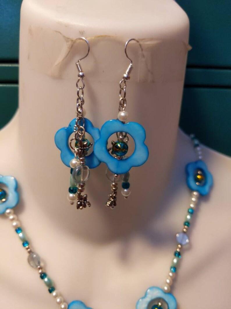 Dragon pendant and earrings