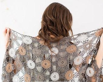 Crochet pattern : Inner Circles Shawl