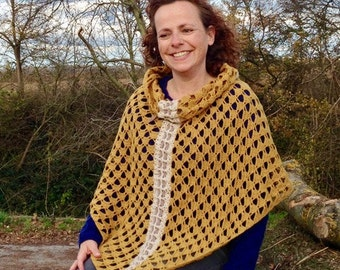 Ans Poncho-Shawl-Cowl Crochet pattern