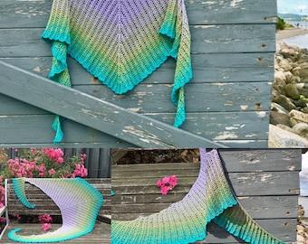 Crochet pattern : Roller Bird Shawl