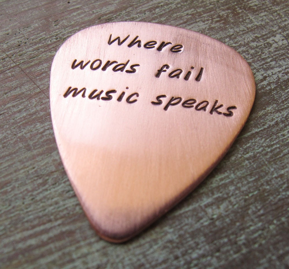 Where words fail music speaks Personalized Copper Guitar | Etsy