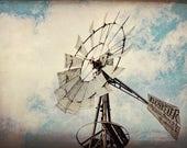Windmill wall decorTexas Decor Rustic home decor vintage print western decor vintage farmhouse chic windmills