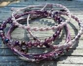 Lilac and Lavendar Bracelet Ensemble